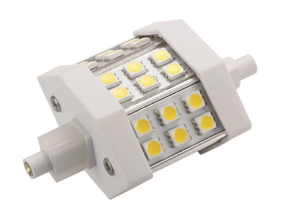 LAMPARA R7S LED 78MM ESPECIAL PROYECTOR R7S 4W 6500K 120º 230V