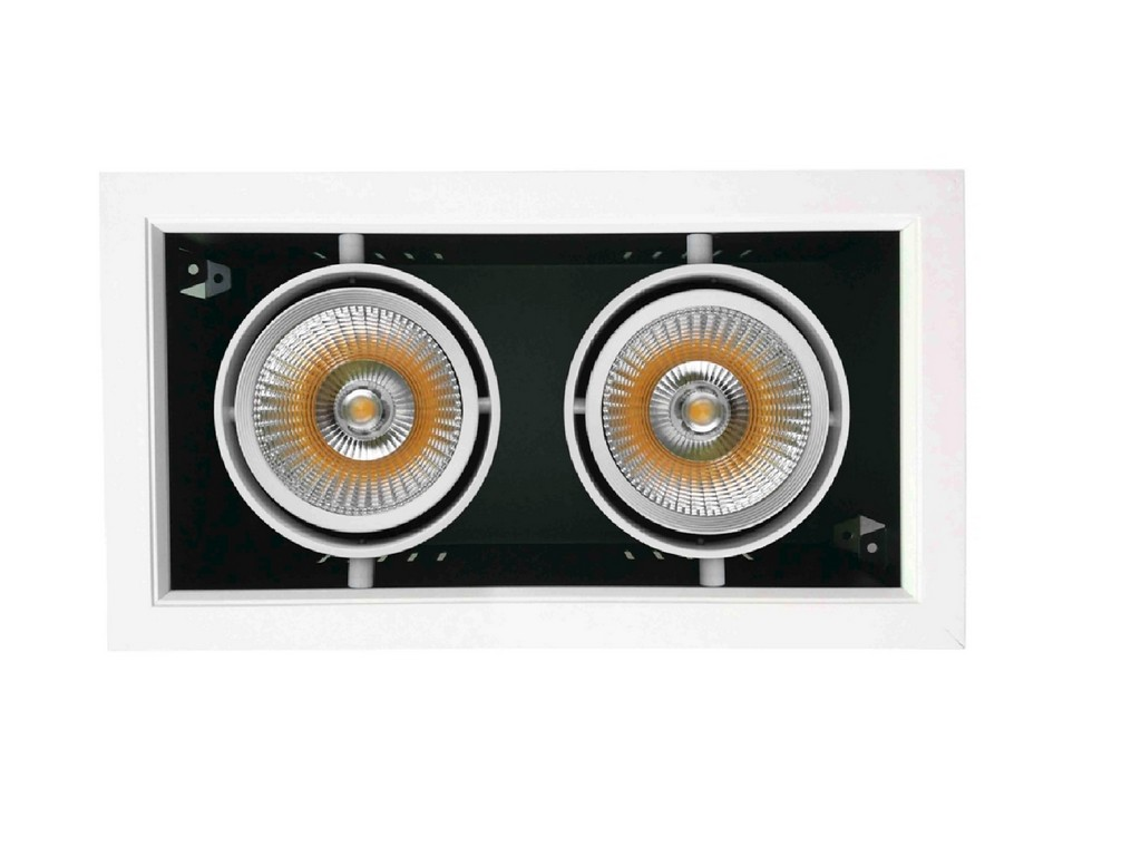 ARO EMPOTRABLE LED 2XAR111 30W 3000K BLANCO