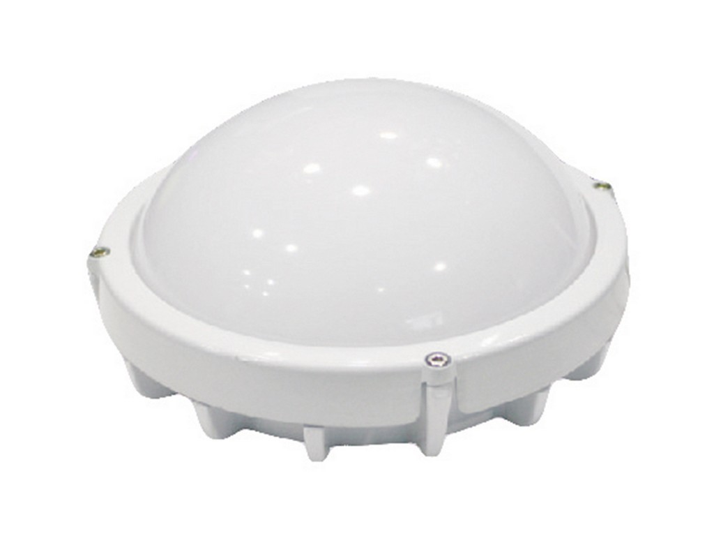 APLIQUE LED PROFESIONAL ESTANCO REDONDO IP65 12W 3000K 100º 230V BLANCO