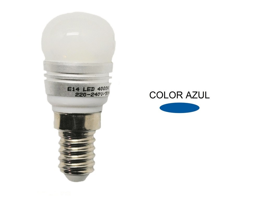 LAMPARA PEBETERA LED AZUL E14 2,2W 120º 230V